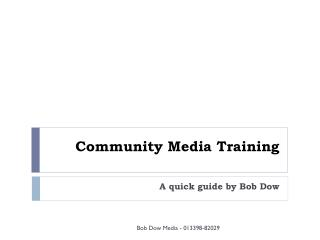 Community Media Training