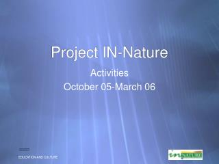Project IN-Nature
