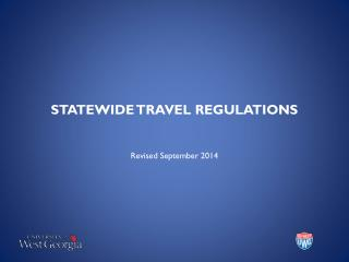 STATEWIDE TRAVEL REGULATIONS