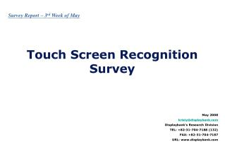 Touch Screen Recognition Survey