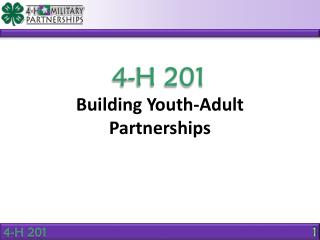 Building Youth-Adult  Partnerships