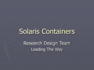 Solaris Containers