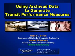Using Archived Data  to Generate  Transit Performance Measures