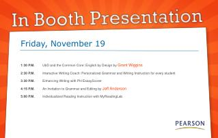 1:30 P.M. UbD and the Common Core: English by Design by Grant Wiggins