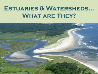 Estuaries & Watersheds…  What are They?