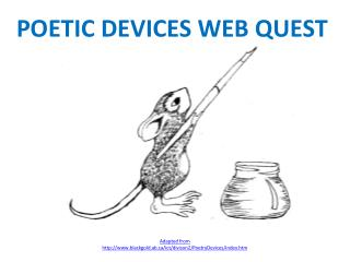POETIC DEVICES WEB QUEST