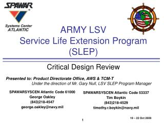 ARMY LSV Service Life Extension Program (SLEP)