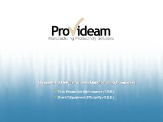 Manufacturing Productivity Solutions