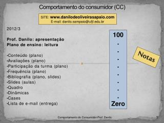 Comportamento do consumidor (CC)