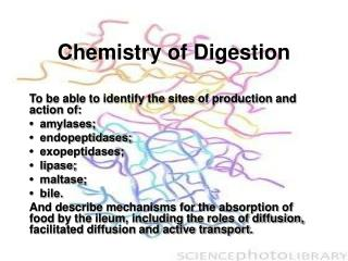 Chemistry of Digestion