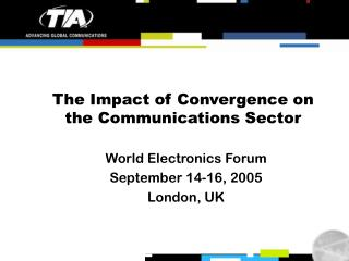 The Impact of Convergence on the Communications Sector