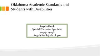 Oklahoma Academic Standards and  Students with Disabilities