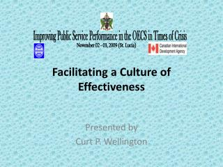 Facilitating a Culture of Effectiveness