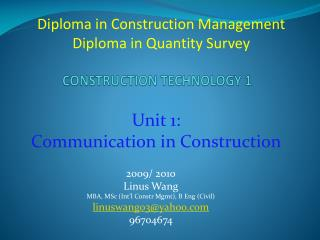 CONSTRUCTION TECHNOLOGY 1
