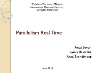 Parallelism Real Time