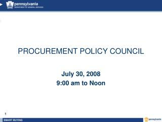 PROCUREMENT POLICY COUNCIL