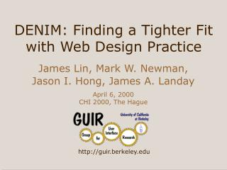 DENIM: Finding a Tighter Fit with Web Design Practice