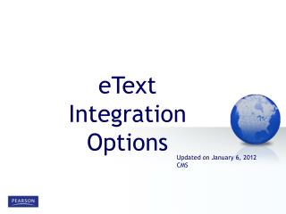 eText  Integration Options