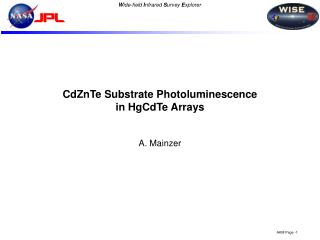 CdZnTe Substrate Photoluminescence in HgCdTe Arrays