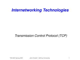 Internetworking Technologies