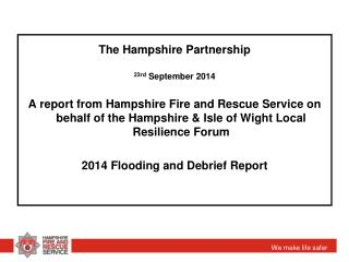 The Hampshire Partnership 23rd  September 2014