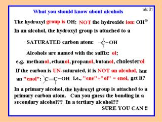 SOME REACTIONS OF ALCOHOLS