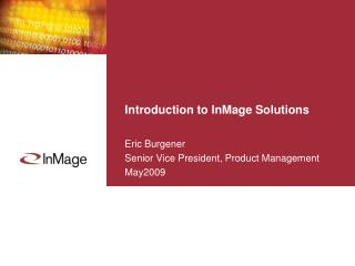 Introduction to InMage Solutions