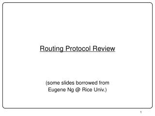 Routing Protocol Review