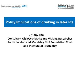 Policy Implications of drinking in later life