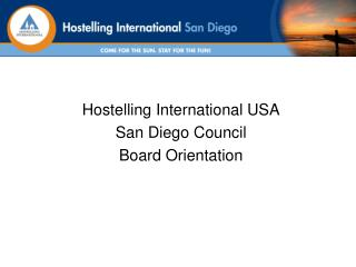 Hostelling International USA San Diego Council Board Orientation