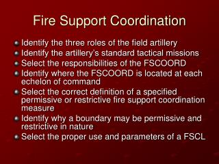 Fire Support Coordination