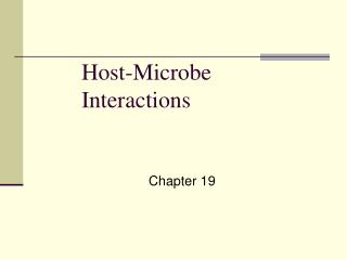 Host-Microbe Interactions