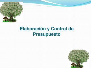 Elaboración  y Control de  Presupuesto