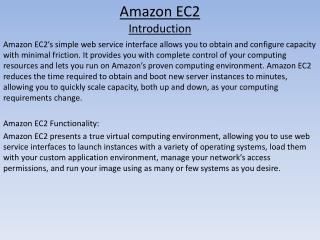 Amazon EC2 Introduction
