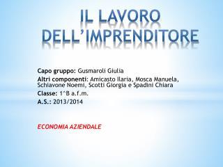 Capo gruppo: Gusmaroli Giulia