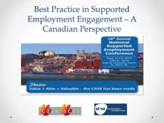Best Practice in Supported Employment Engagement – A Canadian Perspective