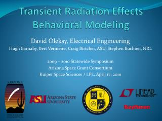 Transient Radiation Effects Behavioral Modeling