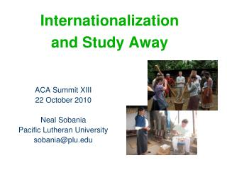 Internationalization and Study Away