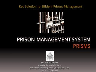 Prison  Management System  PRISMS