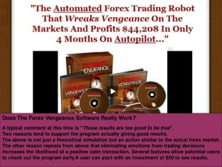 Forex Vengeance Review - Results Could Be Truly Amazing
