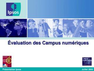 Évaluation des Campus numériques