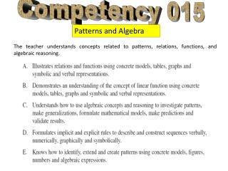 Competency 015