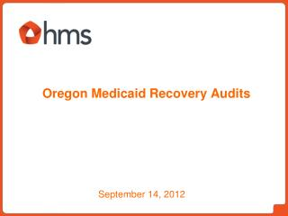Oregon Medicaid Recovery Audits