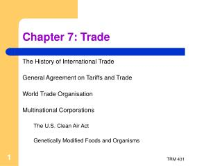 Chapter  7: Trade