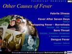 Other Causes of Fever