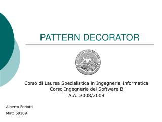 PATTERN DECORATOR