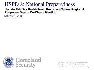 HSPD 8: National Preparedness