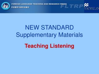 NEW STANDARD Supplementary Materials