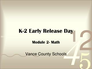 K-2 Early Release Day