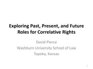 Exploring Past, Present, and Future Roles for Correlative Rights